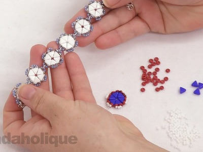 How to Bead Weave a basic flower using the Kheops Par Puca Beads