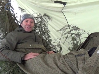 HOW TO Build a Bushcraft - Survival Hammock. HD Bushcraft Video