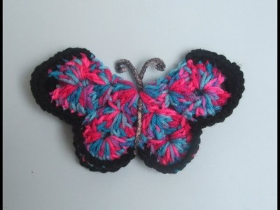 How to Crochet a Butterfly - 3D Pattern #1 │by ThePatterfamily