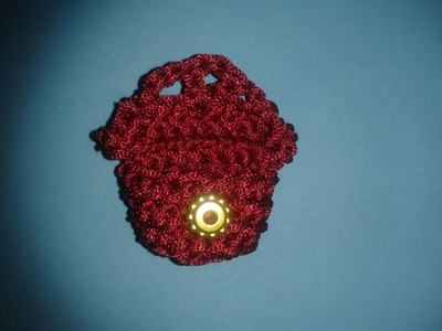 How to crochet a Mini Gift Bag in 15 Minutes
