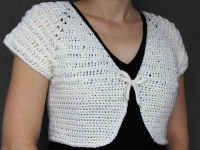 How to crochet a women's short top - video tutorial with detailed instruction