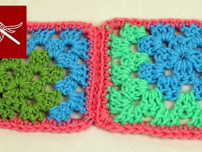 How to Crochet Joining Corner Granny Square Crochet Geek