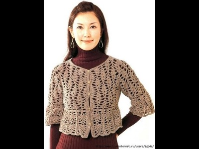 How to crochet shrug, bolero free pattern