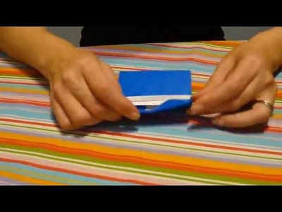 How to make an origami Business.Gift Card Holder