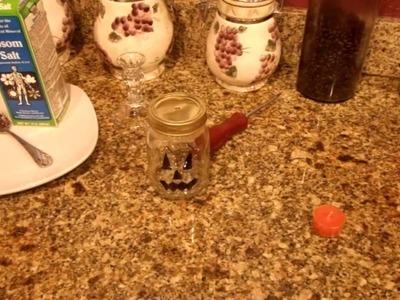 Jus4SweetZ DIY Halloween Mason Jars. . . 3 different ideas.  Party glass, Votive, Candy Jar
