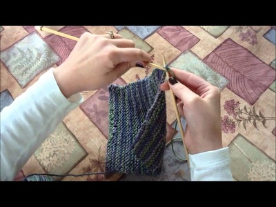 Knitting: How to Cast Off and Weave in Ends (Beginner's Dishcloth Tutorial)