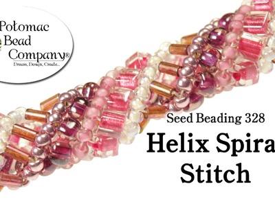 Make a Helix Spiral Stitch Bracelet