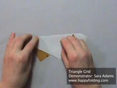 Origami Tessellation Basics: Triangle Grid