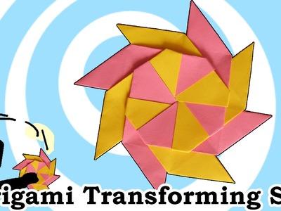 Origami Transforming Ninja Star (8-Pointed)