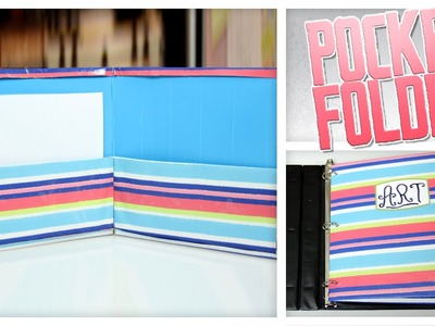 Pocket Folder Made From Cereal Boxes - Do It Gurl
