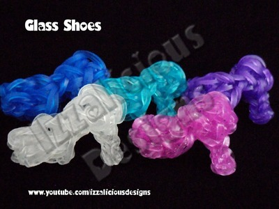 Rainbow Loom Cinderella's Glass Slipper.Shoe Tutorial