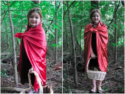 Red Riding Hood Hair, Makeup, and DIY Costume