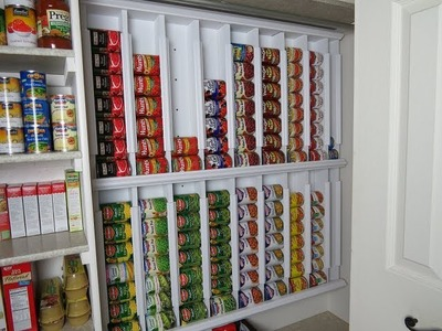 Rotating canned food system - diy