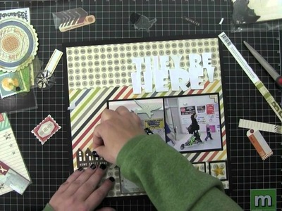 Scrapbook Layout, Process Video, They're Here (2014, Video 1)