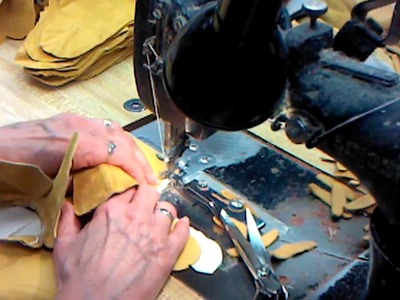 Sewing Leather Palm Work Gloves