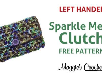 Sparkle Mesh Clutch Free Crochet Pattern - Left Handed