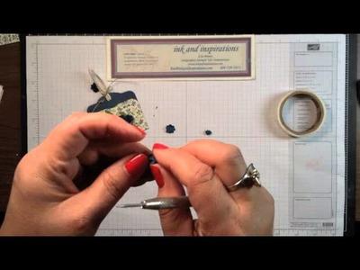 Stampin' Up! Video Tutorial DIY Mini Paper Flowers