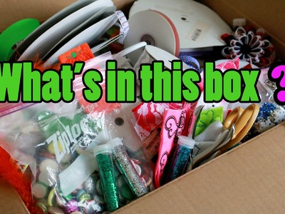 What's in THIS box? Organizing Craft Supplies for the new craft room