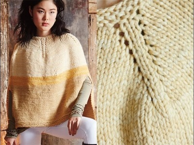 #16 Colorblocked Poncho, Vogue Knitting Fall 2014