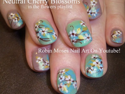 4 Nail Art Tutorials | DIY Neutral Cherry Blossom Design Tutorial