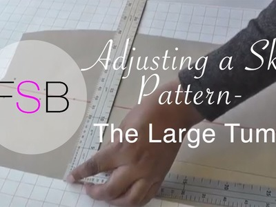 Adjusting a Skirt Pattern: The Large Tummy