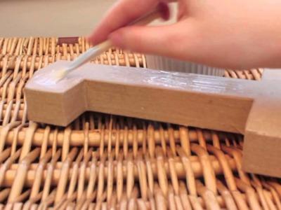 Brides-Made DIY Papier Mache letters