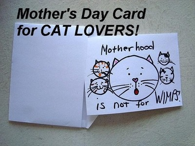 Card making, Cat lovers mother's day card how to diy