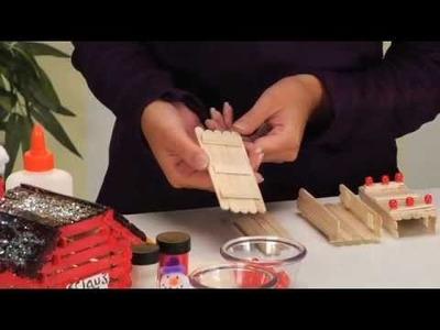 Christmas Crafts make a Christmas Village - CraftProjectIdeas.com