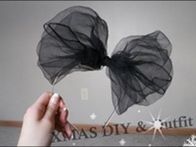 Christmas DIY Fluffy Bow Headband & Christmas Outfit!