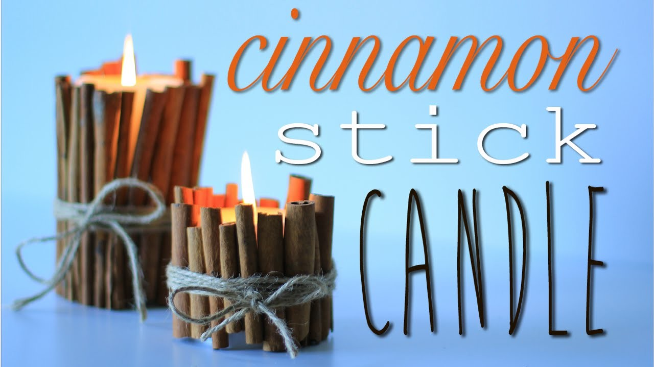 Cinnamon Stick Candle - 7th DIY of Christmas