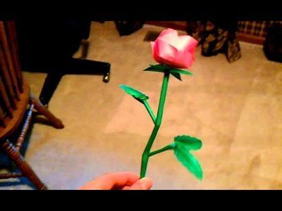 Complete origami kawasaki rose
