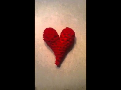 Crochet puffy heart