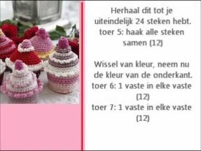 Cupcake haakpatroon - Crochet cupcake pattern