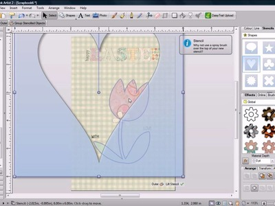 Digital Scrapbook Artist Easter Card Tutorial