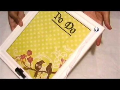 DIY: Custom Dry Erase Board | Recycle Your Shoe Laces
