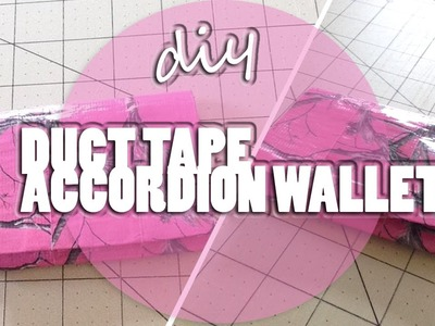 DIY: Duct Tape Mini Accordion Wallet!