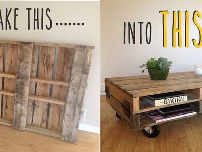 DIY- How To Make A Coffee Table Out Of An Old Pallet