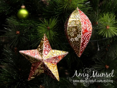 DIY Metal Christmas Baubles Decorations