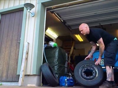 DIY Tire Change, Breaking Bead