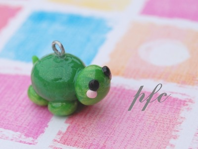 DIY Turtle Polymer Clay Charm Tutorial