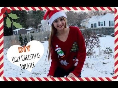 """DIY """"Ugly"""" Christmas Sweater! ❄"""
