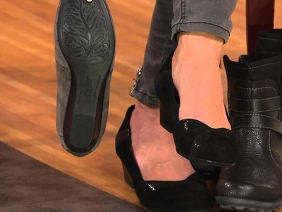 Earth Suede Pleated Wedges - Spiceberry with Sharon Faetsch