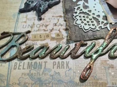 Embossed Chipboard with Liquid Pearls Tutorial