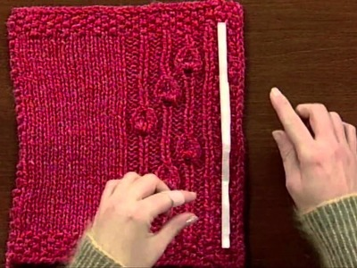 Eunny's Quick Tip for Buttonhole Placement, from Knitting Daily TV Episode 612