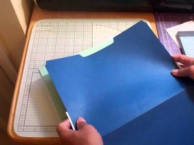 File folder Scrapbooking Part 1