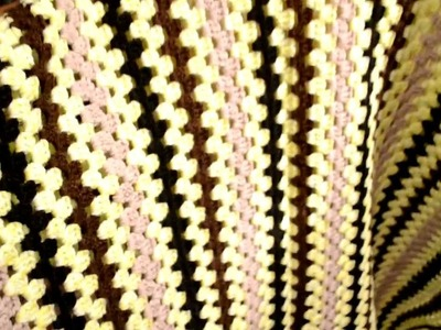 Granny on the straight crocheted blanket