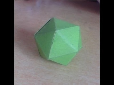 How To Make 20 sided dice origami
