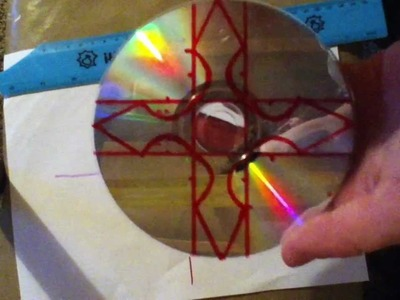 How To Make a Throwing Star out of a CD