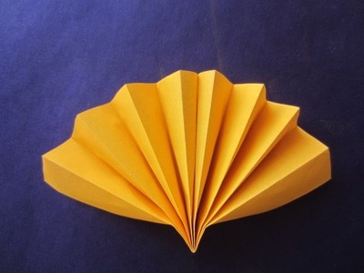 How To Make Simple Hand Fan- Paper Craft Art