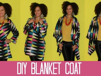 How To Refashion a Blanket in a DIY Blanket Coat